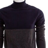 FRENCH CONNECTION Mens Navy And Grey Turtleneck Sweater