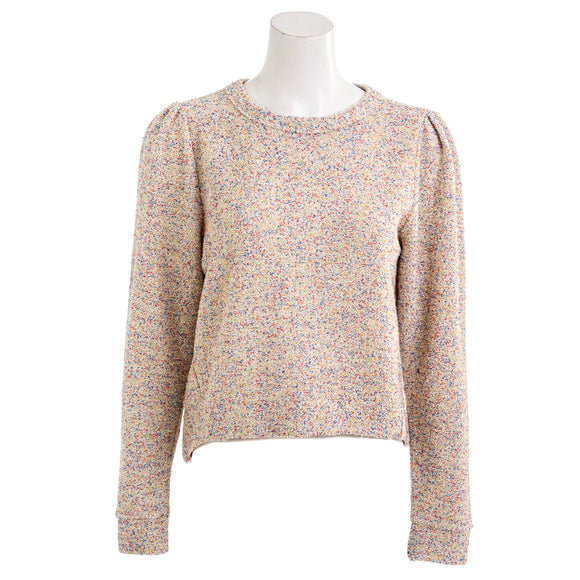 LOU & GREY Women's Sprinkle Puff Sleeve Terry Top
