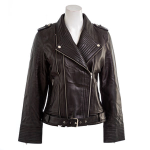 DEA Women's Lamb Leather Moto Jacket