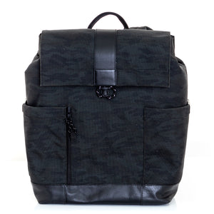 COLE HAAN Men's Ballistic Nylon Backpack Black Camo