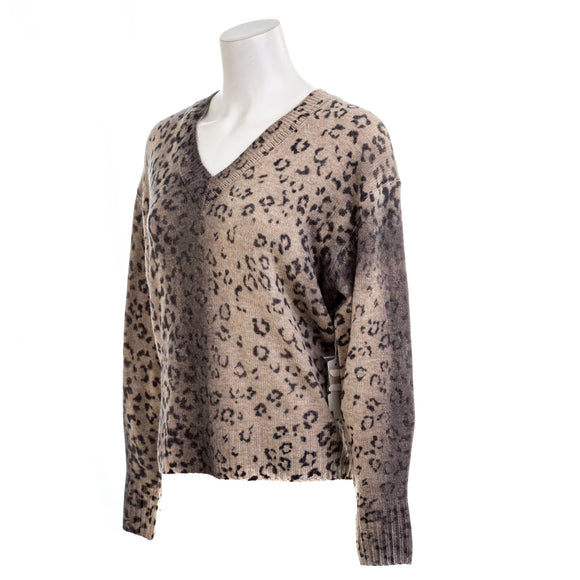 BROCHU WALKER Millie Printed Vee Sweater