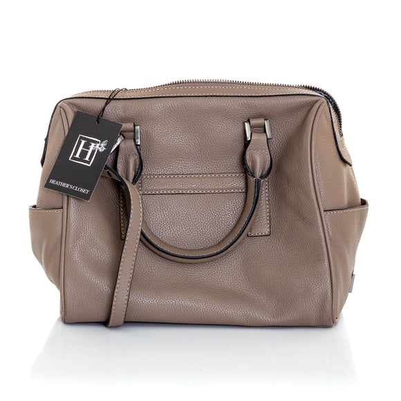 HEATHER'S CLOSET Speedy Leather Satchel