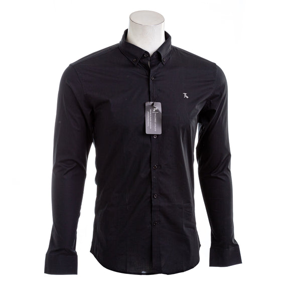 TAILORED ATHLETE Black True Muscle Fit Casual Shirt