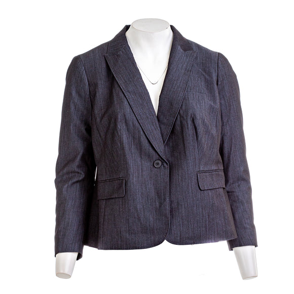 ANNE KLEIN Women's Denim Twill Jacket