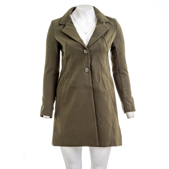 VERTIGO PARIS Solid Notch Collar Coat