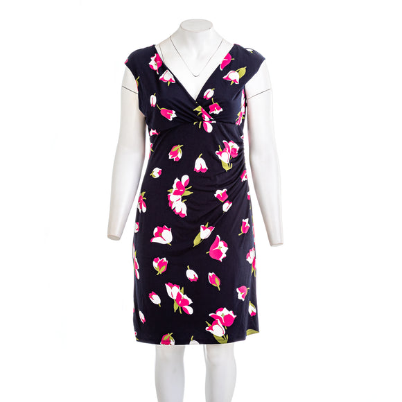 ANN TAYLOR FACTORY Womens Long Sleeve Floral Dress