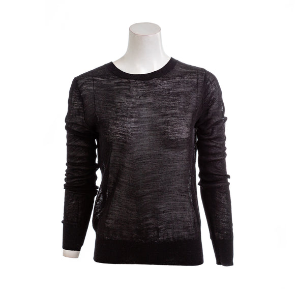 A.L.C. Sheer Inset Knit Wool Sweater