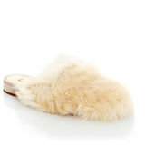 NATASHA ZINKO Women's Fluffy Fur Mules Slippers