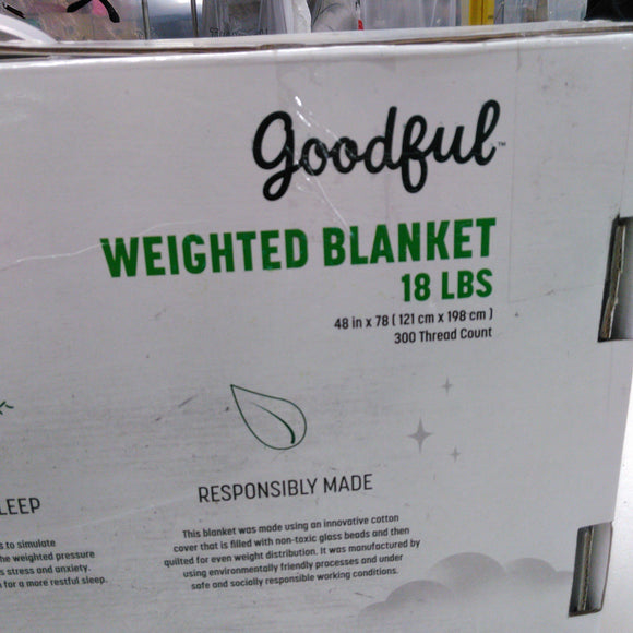 GOODFUL 18 Pound Weighted Blanket 48