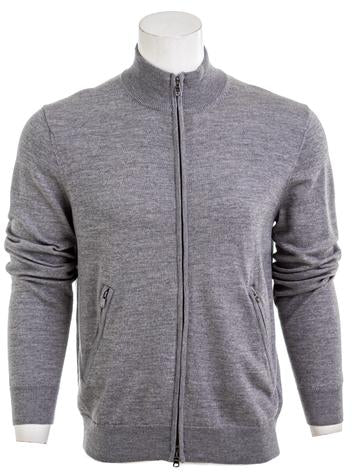 7 FOR ALL MANKIND Merino Wool Zip Cardigan