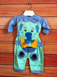 Blue Baby Elephant Jump Suit