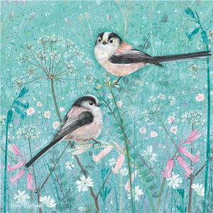Enchanted Wildlife Greetings Card - Long Tailed Tits