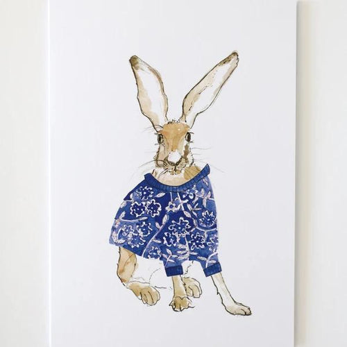 Calico Hare Greetings Card