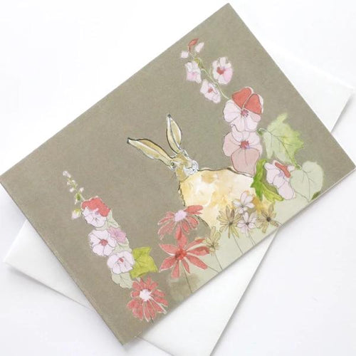 Holly Hare Greetings Card