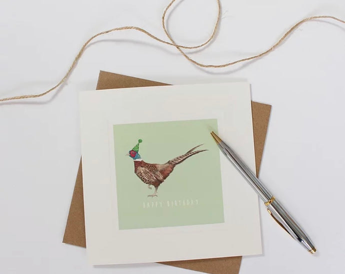 Party Pheasant Birthday Card