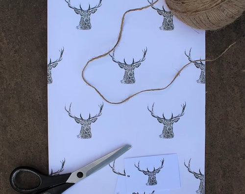 Stag Wrapping Paper
