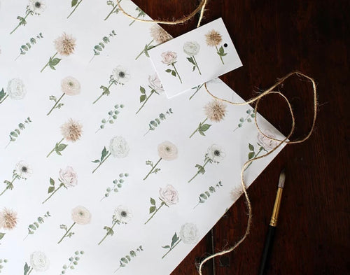 Wedding Flower Wrapping Paper
