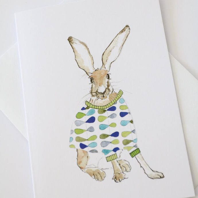 Orla Hare Greetings Card