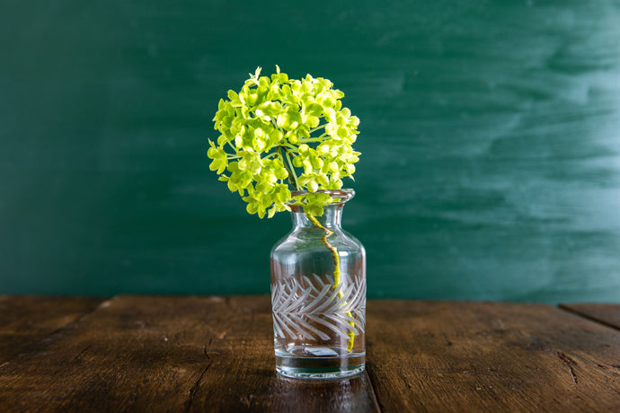 Small Cut Glass Style Vase