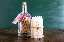 Load image into Gallery viewer, Glass Bottle of Long Matches - Pink Hearts