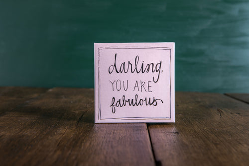 Darling You Are Fabulous Box of Luxury Matches
