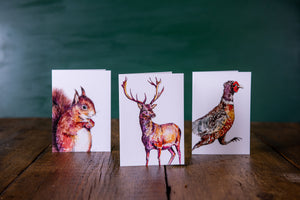Woodland Creatures Notecards x 8
