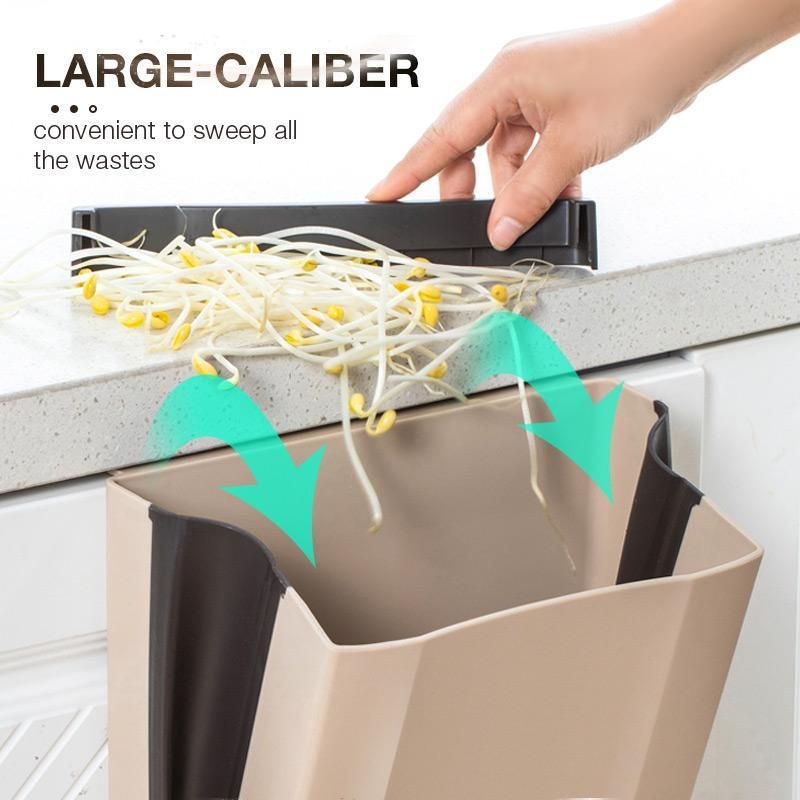 Household  Creative Wall-mounted Folding Trash Can