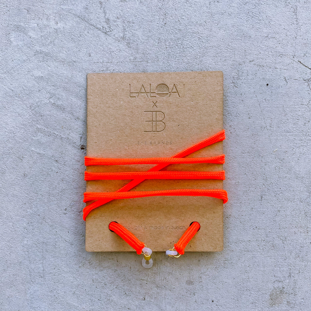 laloa x EYEBRANDS Neon Orange | Brillenkette