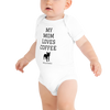 Coffee Lovers Baby Short Sleeve White