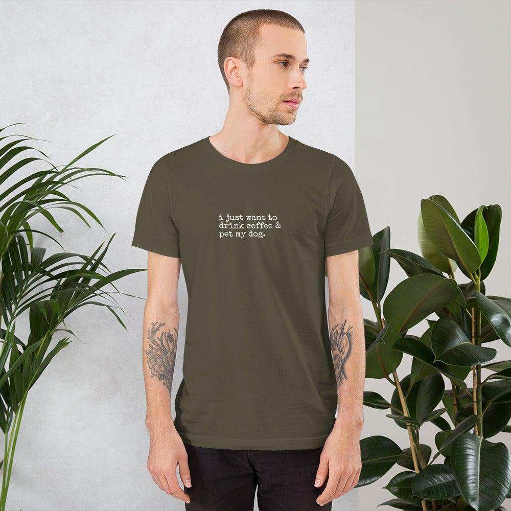 Drink Coffee with my Dog T-Shirt