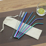 Load image into Gallery viewer, Reusable Metal Straw Set