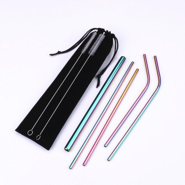 Reusable Metal Straw Set