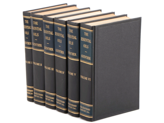 Ernest Guenther's six volumes on essential oil extraction from plants