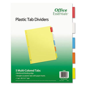 Division Folders 5 Colors Letter Size