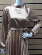 Load image into Gallery viewer, DSS 04 LONG PLEATED DRESS with buckle.