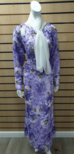 Load image into Gallery viewer, DSS 05 LONG CHIFFON PRINTRD DRESS WITH SCARF.