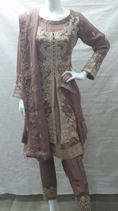 SKD 12 HEAVY EMBROIDERED KAMEEZ FRONT AND BACK.