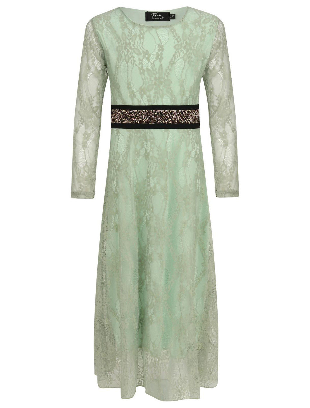 KD 13 MINT GREEN DRESS WITH LACE