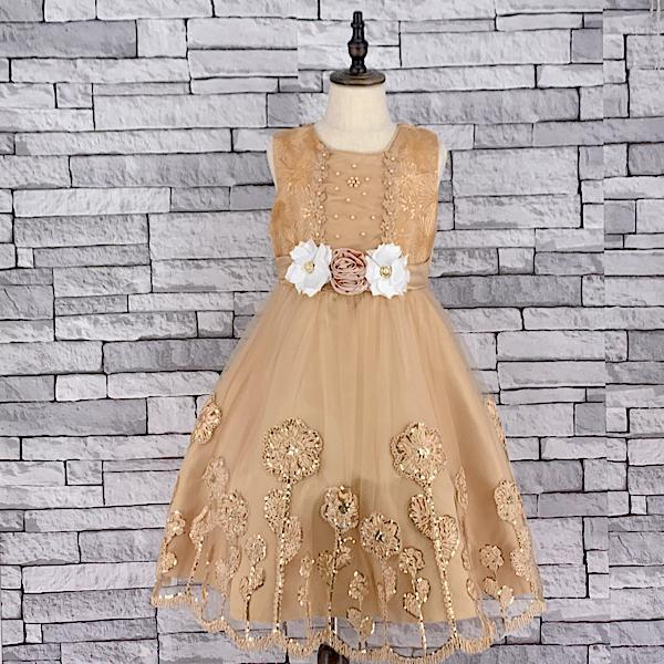 KD 04 CREAM DRESS WITH TIEBACK
