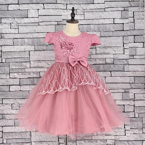 KD 05 PINK DRESS WITH BOW TIE