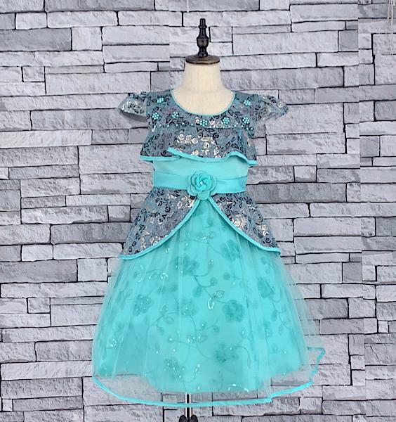 KD 06 BLUE CAP SLEEVE DRESS