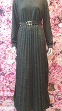 Load image into Gallery viewer, DSS04 LONG WOOLEN WINTER DRESS WITH BELT WITH FRONT