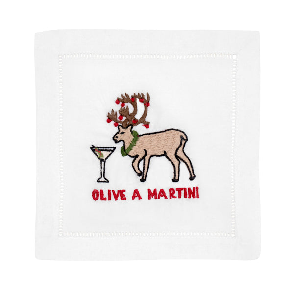 Olive A Martini Cocktail Napkin - Set of 4