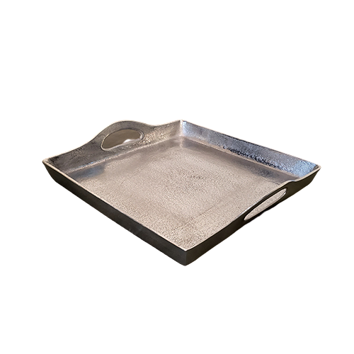 Silver Square Serving Tray