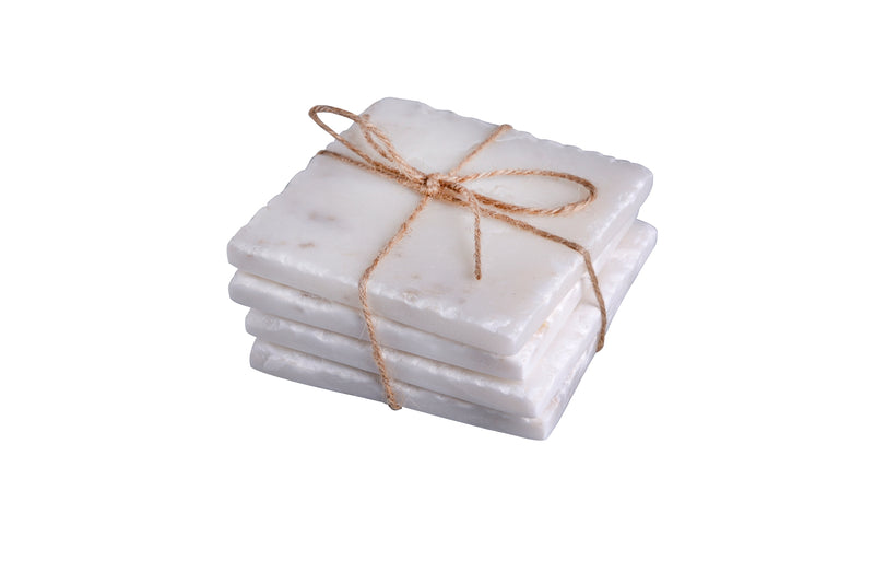 Marble Square Coasters (Set of 4)