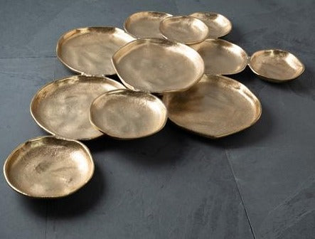 Cluster of 11 Serving Bowls - Gold