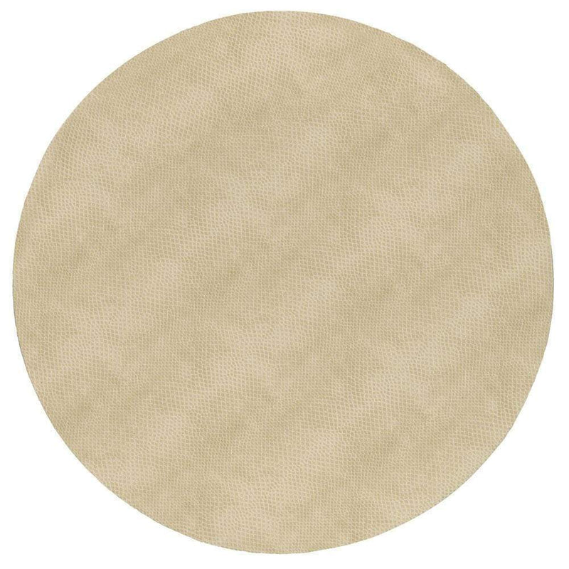 Snakeskin Felt-Backed Placemat in Ivory - 1 Each