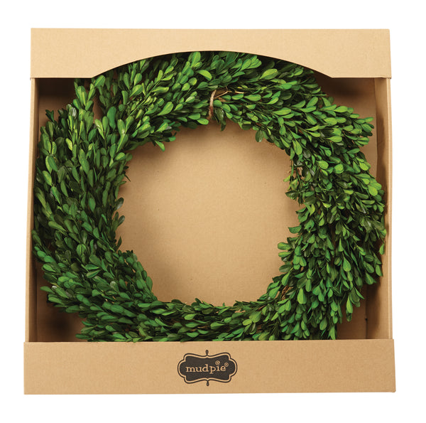 Preserved Boxwood Wreath- Mudpie