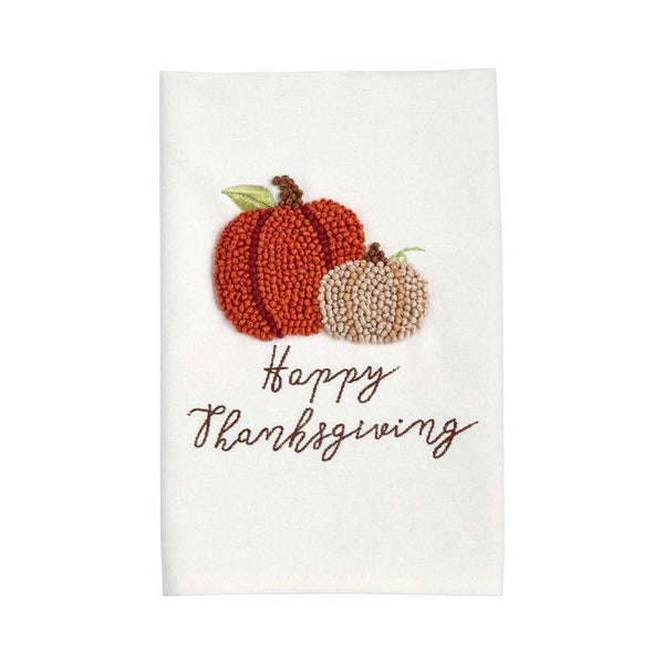 Thanksgiving Knotted Towel (Pumpkin)