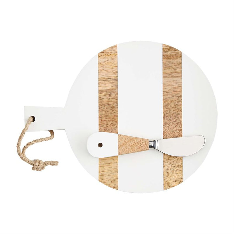 Small Circle White Wooden Board with Spreader